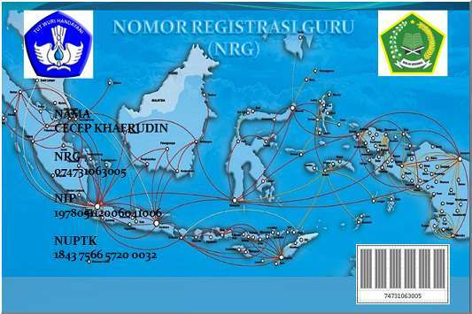 tunjangan sertifikasi guru adalah mempunyai Nomor Register Guru (NRG